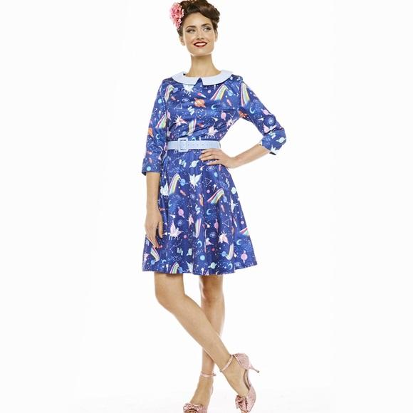 489119e70b36 Lindybop Dresses & Skirts - Lindybop Cayla Space Unicorn Dress 14